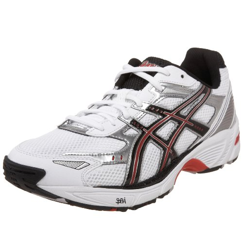 ASICS Men's GEL-160TR Training Shoe,White/Black/Red,11.5 M