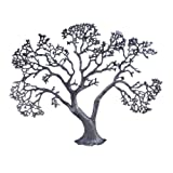Homescapes - Silver Large Metal Wall Art - Tree - 72 x 57 cm (28 x 22 in) - 100% Aluminium - Shiny Polished Silver Antique Finishby Homescapes