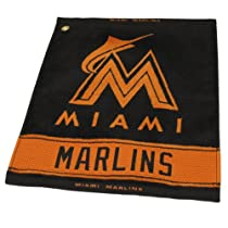 MLB Miami Marlins Woven Towel, Orange