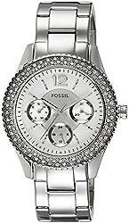 Fossil End-of-season Stella Analog Silver Dial Womens Watch - ES3588