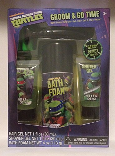 Teenage Mutant Ninja Turtles Groom And Go Time 4 Piece Bath Gift Set front-1057532