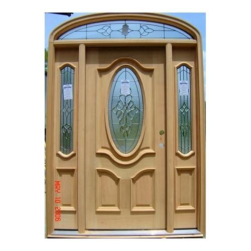 4 panel mahogany door with optional transom
