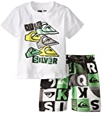 Quiksilver Little Boys Tee Printed Microfiber Shorts