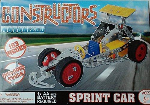 Constructors Motorized Sprint Car Building Kit Build Them Toys