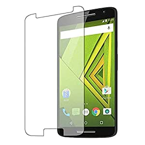 FashionBazar presents Motorola Moto X Play Pro HD+ 9H Hardness Toughened Tempered Glass Screen Protector for Moto X Play by Fashion Bazar FREE Installation Kit