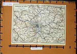 plan banlieue de paris france versailles de la carte 1907 cuisine maison. Black Bedroom Furniture Sets. Home Design Ideas