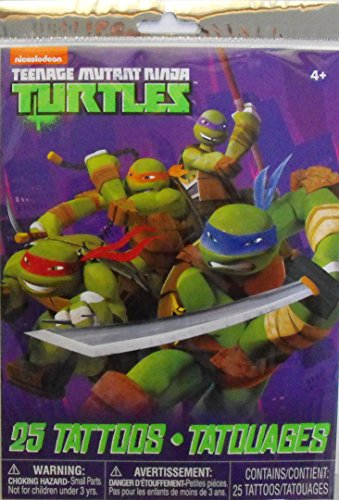 Teenage Mutant Ninja Turtles 25 Temporary Tattoos - 1