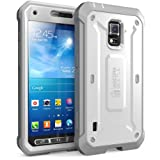 Supcase SM-G870A Unicorn Beetle PRO Series Full-body Rugged Hybrid Case with Built-in Screen Protector for Galaxy S5 Active (White/Gray)
