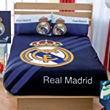 Kitty4U Football Real Madrid Fleece Blanket, Sheets And Curtains Set (Twin)