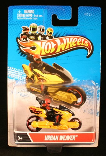 URBAN WEAVER * MOTORCYCLE & RIDER * Hot Wheels 1:64 Scale 2012 Die-Cast Vehicle