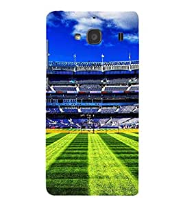 iFasho Football stadium field Baseball field Back Case Cover for Redmi 2S