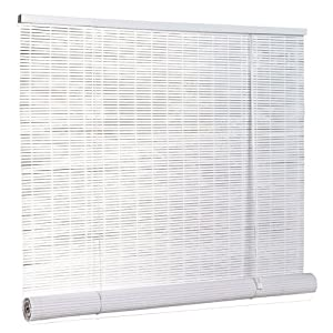 roll up blind window treatment horizontal blinds patio lawn