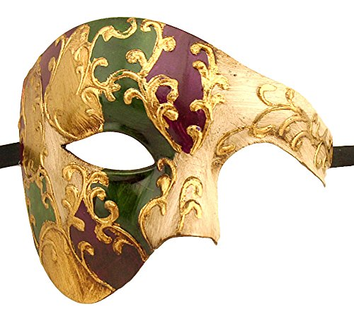 Luxury Mask Men's Phantom Of The Opera Half Face Masquerade Mask Vintage Design