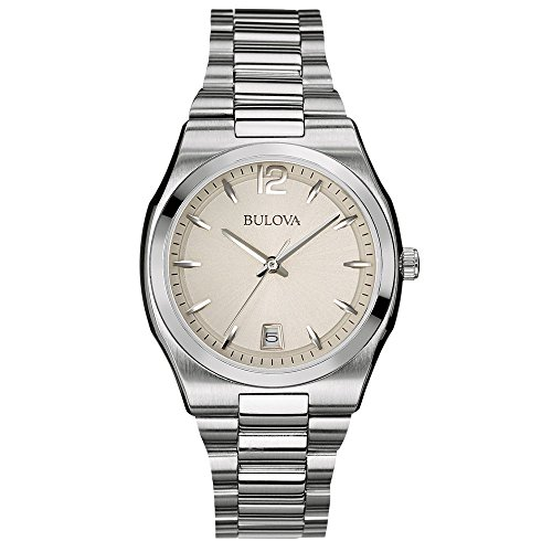 Bulova Classic Dress Women's Quartz Watch with Silver Dial Analogue Display and Silver Stainless Steel Bracelet 96M126