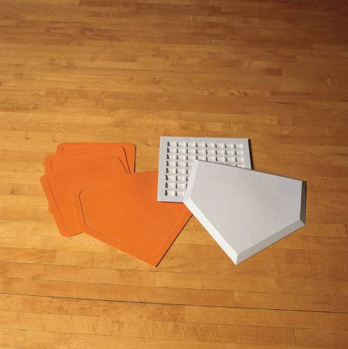 Sportime Throwdown Plate and Base Set for Indoor / Outdoor Baseball - Orange