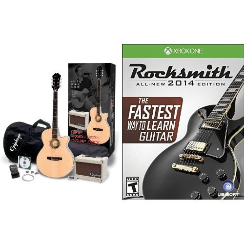 epiphone pr 4e acoustic electric guitar player pack with rocksmith for xbox one. Black Bedroom Furniture Sets. Home Design Ideas