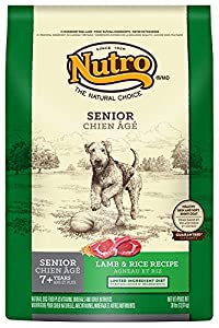 The Nutro Company Limited Ingredient Diet Senior Dog Food with Lamb and Whole Brown Rice Formula, 30-Pound