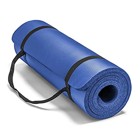 Tired of yoga mats that provide more stick than cushion turn to this extra-thick exercise mat, which stands 5/8 inch off the ground-far thicker than most competing yoga mats. The mat is made using comfort foam technology, which offers superior impact...