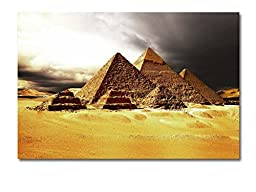 Neron Art - Hand painted Africa Oil Painting on Gallery Wrapped Canvas - Sandstorm 20X14 inch (51X36 cm)