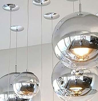 tom dixon 15 7 glass globe chrome mirror ball pendant. Black Bedroom Furniture Sets. Home Design Ideas