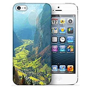 Snoogg Small Waterfall Printed Protective Phone Back Case Cover For Apple Iphone 5 / 5S