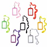 Cosmos ® 7 Colors Vertical Style Faux Leather Business Id Credit Card Badge Holder