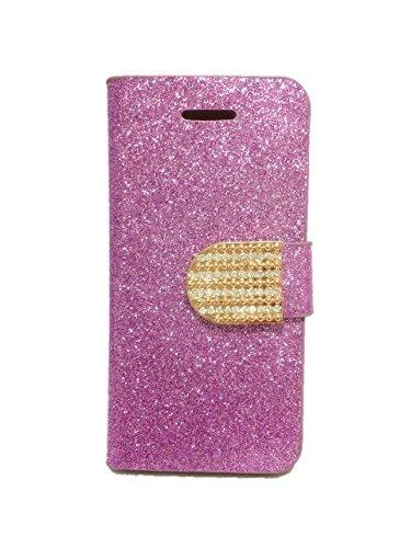 豪華 折りたたみ iphoneケース キラキラ iphone5 5S iphoneカバー (パープル, iphone5S 5G 5)