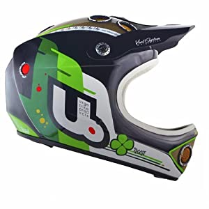 Urge Helmets Down-O-Matic Full Face Helmet Veggie Black Green L XL by Urge Helmets