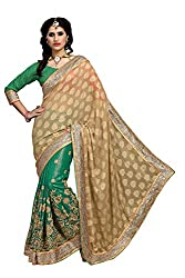 coolwomen women's chiffon embroidered free size fancy saree-cw_NMD2A224_green_free size