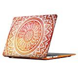 Macbook Air 13 Inch Case, iCasso Macbook Case Hard Shell Protective Plastic Case Cover For Apple Macbook Case Air 13 Inch Model A1369/A1466 - Orange Medallion