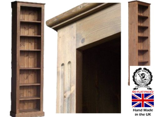 Pine Bookcase; 7ft Tall x 2ft Wide Solid Pine Shelving with 6 Shelves. Alternative colours available, see attached image. NOT A FLAT-PACK! BUT A FULLY ASSEMBLED, HAND-CRAFTED PIECE OF PINE FURNITURE