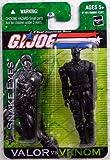 G.I. Joe A Real American Hero Valor Versus Venom 4 Inch Action Figure - Snake Eyes with Ninja Sword and Sheath Plus Sub Machine Gun