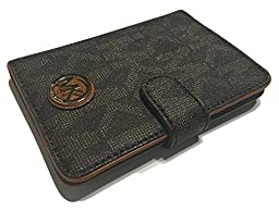 Michael Kors Fulton Passport Case Holder (Signature MK Brown PVC)