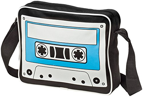 Unisex Cassette Shoulder Messenger Bag - Exclusive design with zippered main compartment