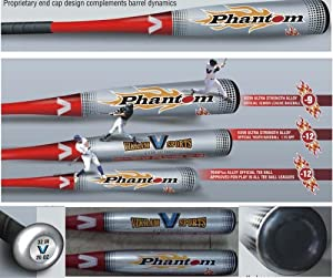 Brand NEW 2014 Phantom Little League Youth Baseball Bat 31 Inch 19 oz (-12) made from... by Vikram Sports