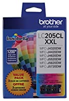 Brother Printer LC2053PKS Multi Pack Ink Cartridge, Cyan/Magenta/Yellow from Brother Printer