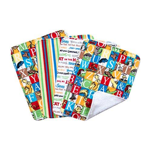 Trend Lab Dr. Seuss Alphabet Seuss Bouquet 4 Piece Burp Cloth Set