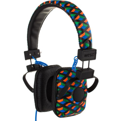 Wesc Maraca Headphones Heart Breaker Knit Pattern Black