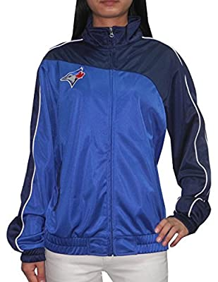 MLB Toronto Blue Jays Womens Zip-Up Track Jacket with Embroidered Logo