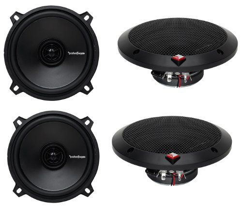 "4) Rockford Fosgate R1525X2 5.25"" 160W 2 Way Car Coaxial Audio Speakers Stereo"