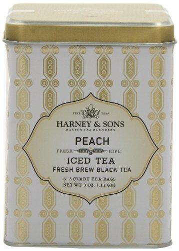 Harney & Sons Peach Iced Tea, 6 Brew Pouches