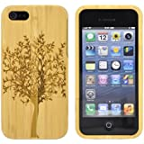 TTMWOOD Handcraft Natural Premium Wood Case Cover for iPhone 5/ iPhone 5s Tree bamboo wood case cover for iPhone 5/5s (light bamboo)