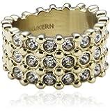 Dyrberg/Kern Damen-Ring Vergoldetes Metall Fuhia II sg crystal 334400