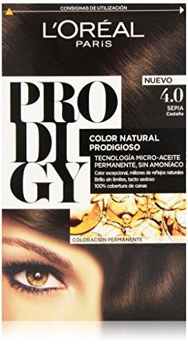 L'Oreal Tintura per Capelli, Prodigy Coloración Permanente, 200 gr, 4-Sepia