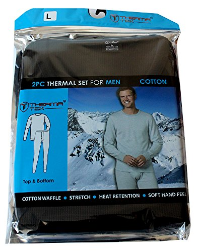 therma-tek-formerly-comfort-fit-winter-mens-thermal-100-cotton-top-bottom-2-pcs-set-black