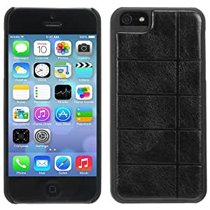 Evecase iPhone 5S / 5 Case, Rectangular Stamped Leather Rubber Coating Grip Cover Case for Apple iPhone 5 5G / 2013 iPhone 5S