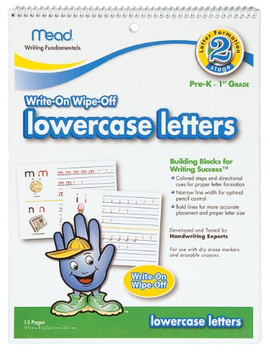 Mead Lowercase Letters Dry Erase Book, 10-5/8 X 8-Inches, 13 Pages (54212) front-615205