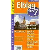 Poland City Map Elblag + 7 Other Cities: Braniewo, Frombork, Krynica Morska, Malbork, Morag, Nowy Dwor Gdanski...