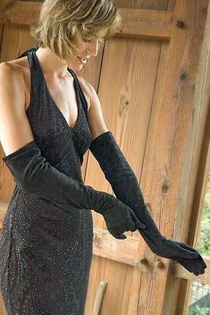 Buy Women's Long Suede Opera Gloves