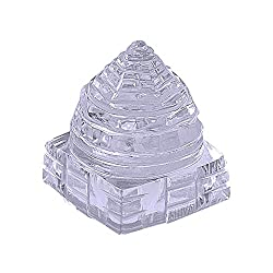 Shiva Rudraksha Ratna Natural Quartz Crystal / Sphatik Shri Yantra / Shree Yantra 13 to 15 gm. approx